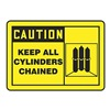 Accuform Signs MCPG601VA Caution Sign, 10 x 14In, BK/YEL, AL, ENG