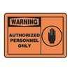 Accuform Signs MADM317VA Warning Sign, 10 x 14In, BK/ORN, AL, ENG