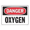 Accuform Signs MCHL168VS Danger Sign, 7 x 10In, R and BK/WHT, OXY