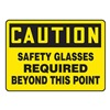Accuform Signs MPPA703VA Caution Sign, 10 x 14In, BK/YEL, AL, ENG