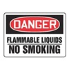 Accuform Signs MCHL078VP Danger No Smoking Sign, 10 x 14In, PLSTC