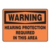 Accuform Signs MPPE317VS Warning Sign, 7 x 10In, BK/ORN, ENG, Text