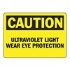 Accuform Signs MRAD629VA Caution Ultraviolet Sign, 10 x 14In, AL