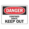 Accuform Signs MCSP108VP Danger Sign, 7 x 10In, R and BK/WHT, PLSTC