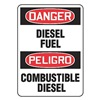 Accuform Signs SBMCHL226VP Danger Sign, 10 x 14In, R and BK/WHT, PLSTC