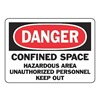 Accuform Signs MCSP102VA Danger Sign, 7 x 10In, R and BK/WHT, AL, ENG