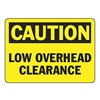 Accuform Signs MEQM617VP Caution Sign, 7 x 10In, BK/YEL, PLSTC, ENG