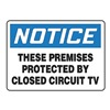 Accuform Signs MASE830VA Notice Security Sign, 10 x 14In, AL, ENG