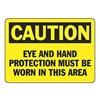 Accuform Signs MPPE426VP Caution Sign, 7 x 10In, BK/YEL, PLSTC, ENG