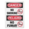 Accuform Signs SBMSMK016VP Danger No Smoking Sign, 14 x 10In, PLSTC