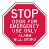 Lyle ST-017-6HA Sign, Door For Emergency Use