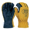 Shelby 5226M Firefighters Gloves, M, Pigskin Lthr, PR