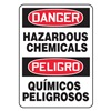 Accuform Signs SBMCHL092VP Danger Sign, 14 x 10In, R and BK/WHT, PLSTC