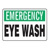 Accuform Signs MFSD913VA Eye Wash Sign, 10 x 14In, GRN and BK/WHT
