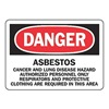 Accuform Signs MCAW013VP Danger Sign, 7 x 10In, R and BK/WHT, PLSTC
