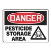 Accuform Signs MCHL234VA Danger Sign, 10 x 14In, R and BK/WHT, AL