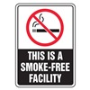 Accuform Signs MSMK533VA No Smoking Sign, 10 x 7In, R and WHT/BK, AL