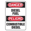 Accuform Signs SBMCHL226VS Danger Sign, 10 x 14In, R and BK/WHT, Text