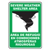 Accuform Signs SBMFEX524VS Notice Sign, 14 x 10In, BK and GRN/WHT