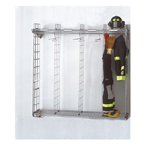 Grove Turnout Gear Rack, Wall Mount, 4 Comprtmnt at Sears.com