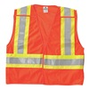 Ml Kishigo 1176/5X Breakaway Hi Vis Vest, Class 2, 5XL, Orange
