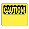 Glaro S18-Y-16 BARRIER POST SIGN CAUTION BLANK 11 IN
