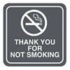 Intersign 62186-2 GRAY No Smoking Sign, 5-1/2 x 5-1/2In, WHT/GRA