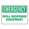 Accuform Signs MCHL908VA Emergency Sign, 7 x 10In, GRN/WHT, AL, ENG