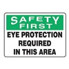 Accuform Signs MPPE929VP Caution Sign, 7 x 10In, BK and GRN/WHT, ENG