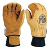 Shelby 5282 L Firefighters Gloves, L, Elkhide Lthr, PR