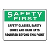 Accuform Signs MPPE917VS Caution Sign, 7 x 10In, BK and GRN/WHT, ENG