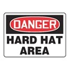 Accuform Signs MPPA005VA Danger Sign, 10 x 14In, R and BK/WHT, AL