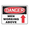 Accuform Signs MCRT016VA Danger Sign, 10 x 14In, R and BK/WHT, AL