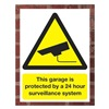 Electromark S1294-R Security Sign, 24 x 18In, YEL and BK/WHT