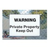 Electromark S1341-A14 Security Sign, 14 x 20In, BK/WHT, AL, ENG, Pack of 10