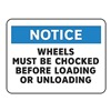 Electromark S207-V10 Notice Sign, 10 x 14In, BL and BK/WHT, ENG