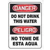 Accuform Signs MSCA103VS Danger Sign, 14 x 10In, R and BK/WHT, Text