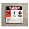 Prinzing 596-14 Danger Sign, 10x10In, Self-ADH Vinyl, PK25