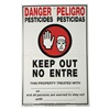 Voss D2020 Warning Sign, 21 x 14In, R and BK/WHT, SURF