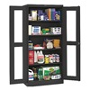 Tennsco CVD1480 BLACK Storage Cabinet, 24 x 36 x 72 In, Black