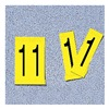 Electromark 34100Y-1 Label, 1, Yellow, 4 In. H, PK 5