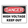 Accuform Signs MELC128VA Danger Sign, 10 x 14In, R and BK/WHT, AL, HV