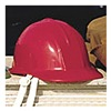 Sellstrom 69030 Hard Hat, Front Brim, Red
