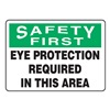 Accuform Signs MPPA900VP Caution Sign, 10 x 14In, BK and GRN/WHT