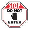 Rockford Silk Screen Process STP-9-DI Stop Sign, 24 x 24In, R and BK/WHT, AL, ENG