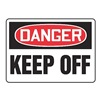 Accuform Signs MADM058VA Danger Sign, 10 x 14In, R and BK/WHT, AL