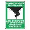 Accuform Signs SBMFEX524VA Notice Sign, 14 x 10In, BK and GRN/WHT, AL