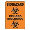 Accuform Signs SBMBHZ530VA Biohazard Sign, 14 x 10In, BK/ORN, AL, SYM