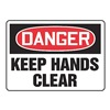 Accuform Signs MEQM050VA Danger Sign, 10 x 14In, R and BK/WHT, AL