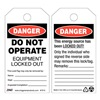 Zing 7010 Danger Tag, 5-3/4 x 3 In, Plstc, OSHA, PK10